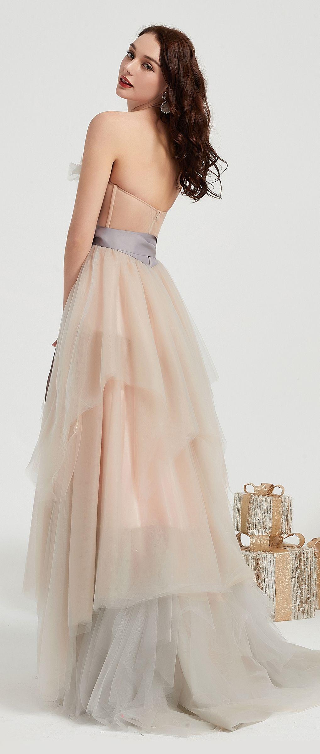 New Ruffle Corset Elegant Long Tulle Party Evening Dress