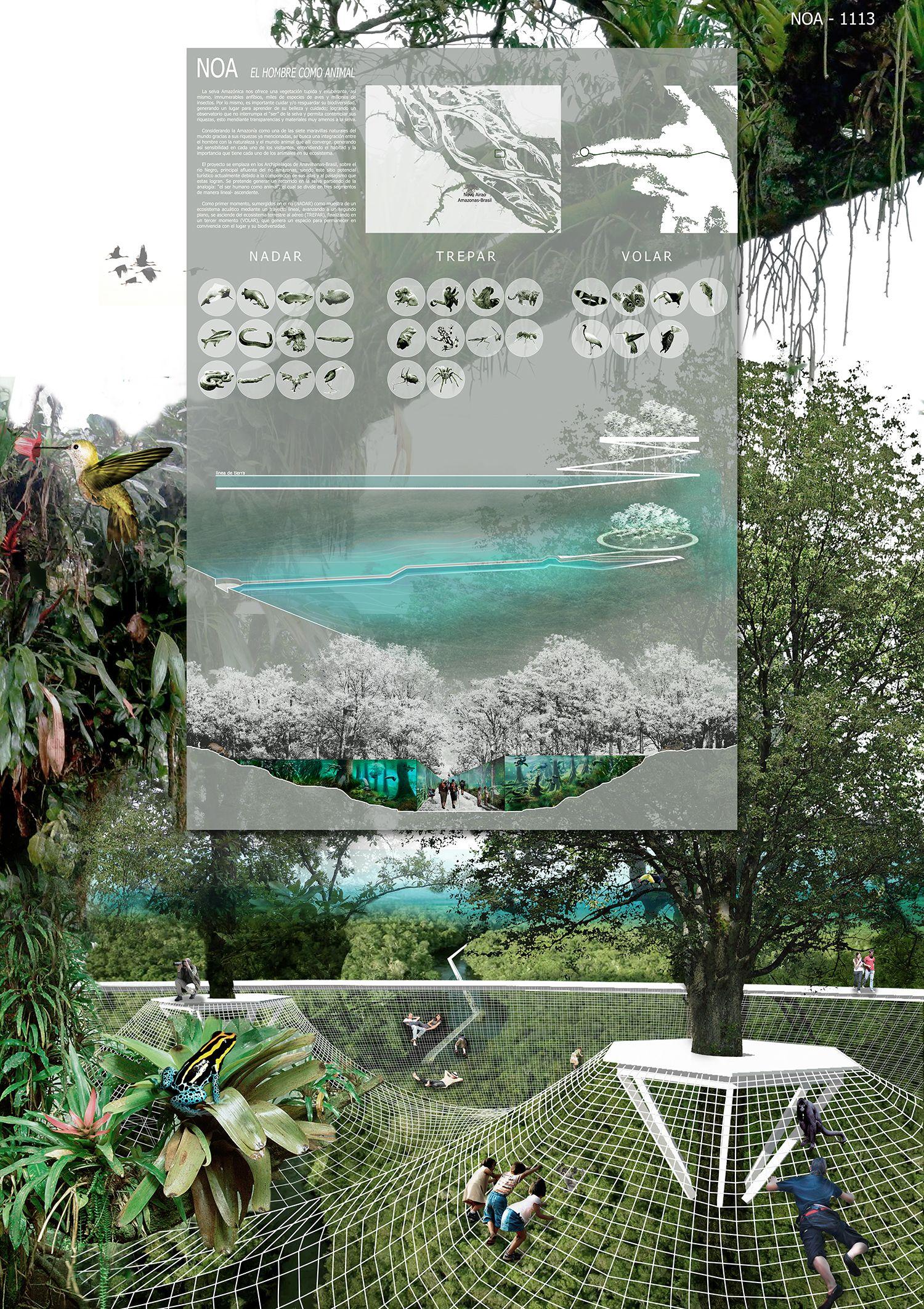 Pin De Franchesco Pulgarin En Planchas Concurso De Arquitectura Arquitectura Ecosistema Acuático
