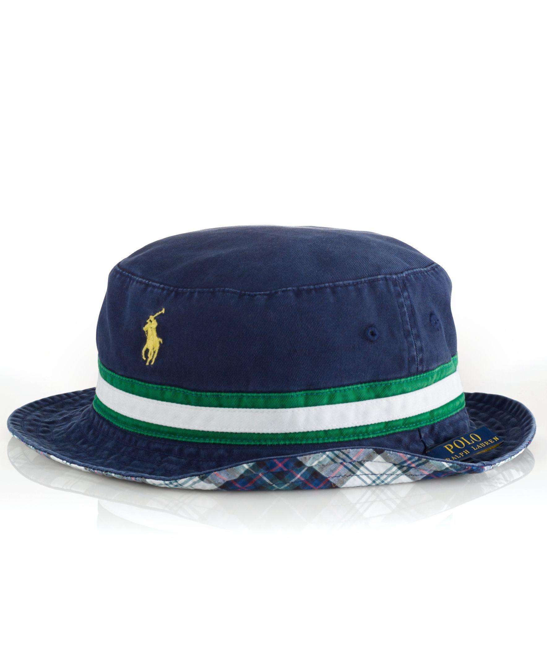 db14a38e0d45b Polo Ralph Lauren Reversible Tartan Bucket Hat
