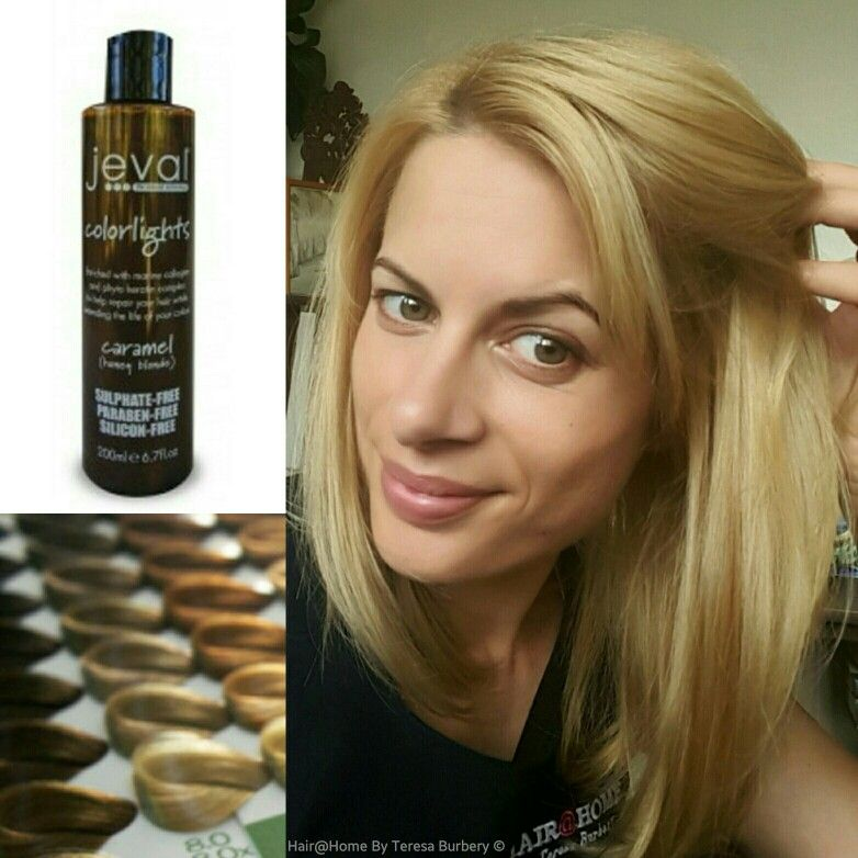 ☆☆Caramel Honey Blonde☆☆   I love using Jeval Colorlights Caramel to freshen up my blonde every 3 or 4 weeks in between colouring.  This sulphate free and paraben free, colour toning shampoo gives brilliant shine and smoothness with marine collagen and keratin complex.  Find your Colorlight! available  online at www.yourpersonalhairdresser.com.au  #sulphatefreeshampoo #parabenfree #keratin #hairtoner #temporaryhaircolor #hair #haircolor #blonde