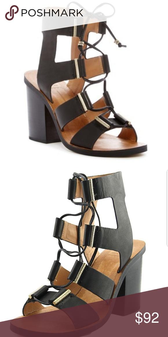 Dolce Vita chunky leather sandal in dark silver. | Chunky