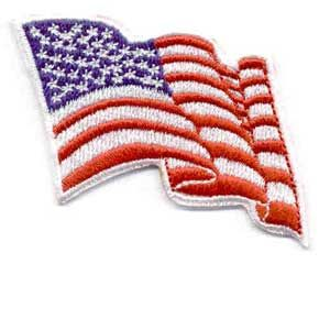 American Flag Wavy Design Iron On Patch 1 75 Daisy Girl Scouts Girl Scout Daisy Girl Scouts