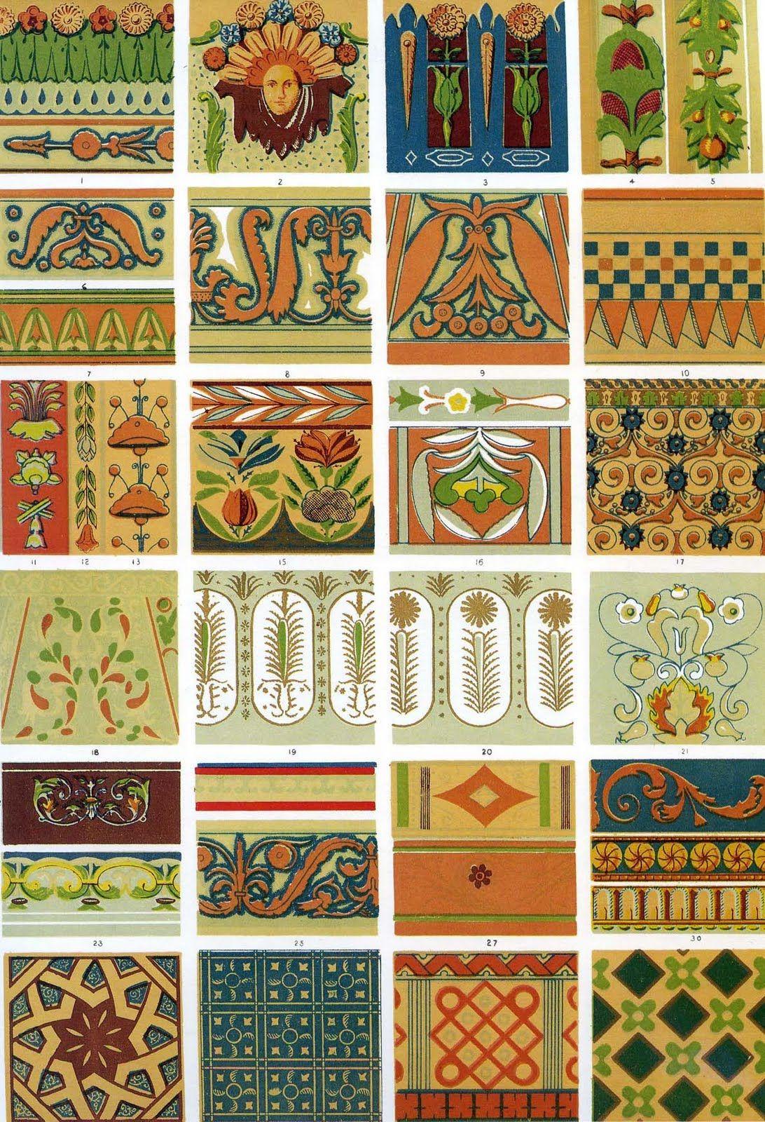 Italian ornaments - Owen Jones The Grammar Of Ornament 1856 Renaissance 6