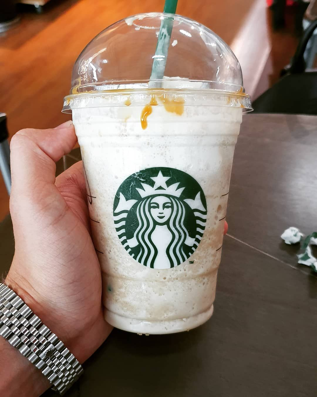 I tryed Starbucks Frappuccino for the first time last week and I must say it was pretty damn delicious I tryed Starbucks Frappuccino for the first time last week and I must say it was pretty damn delicious #starbucksfrappuccino