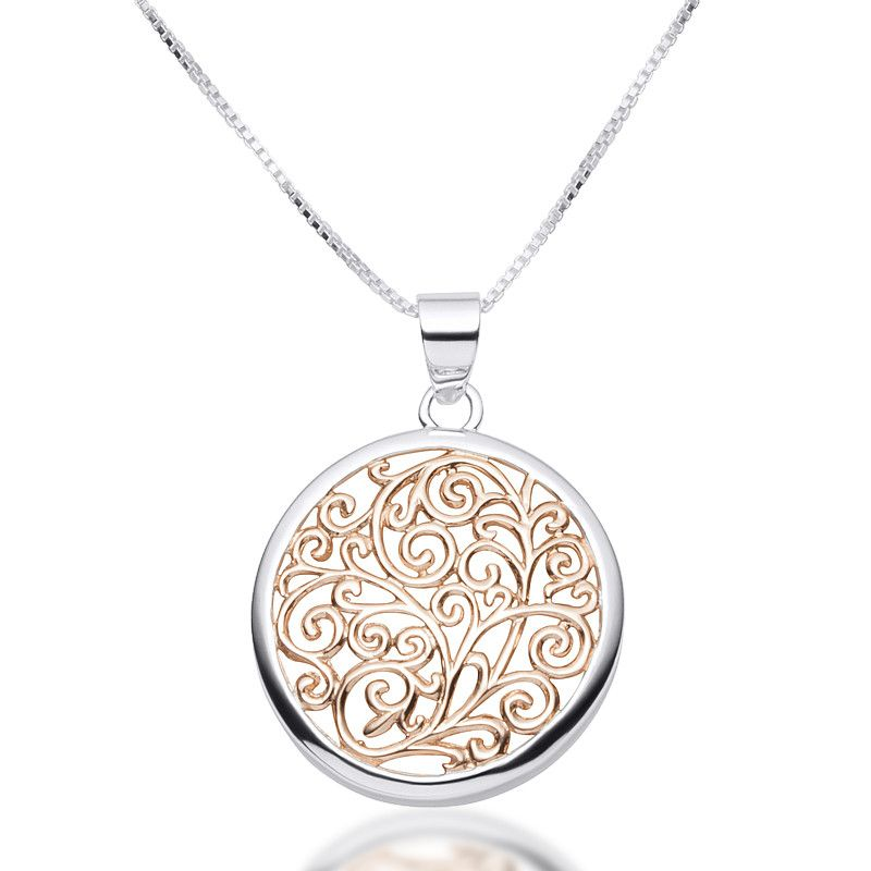 Rose gold filigree circle pendant necklace zaffre jewellery rose gold filigree circle pendant necklace zaffre jewellery australia mozeypictures Images