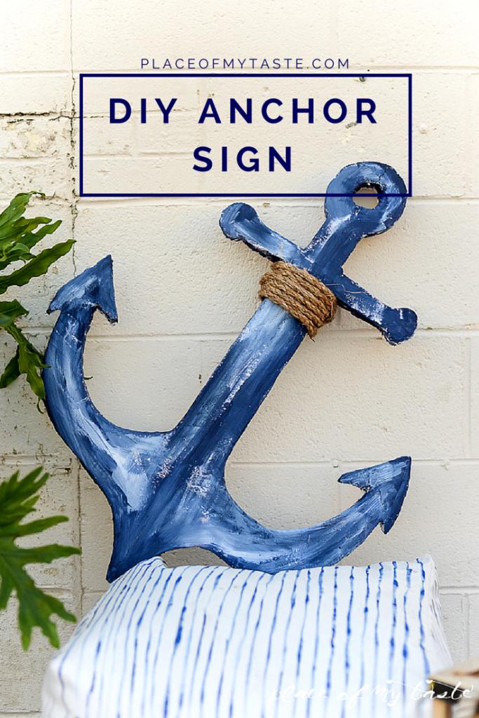 Diy Anchor Sign Anchor Signs Anchor Home Decor Anchor Homes