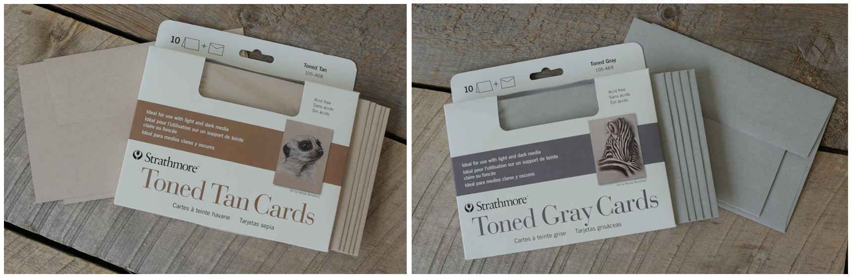New strathmore greeting cards in toned tan and toned gray new strathmore greeting cards in toned tan and toned gray kristyandbryce Choice Image