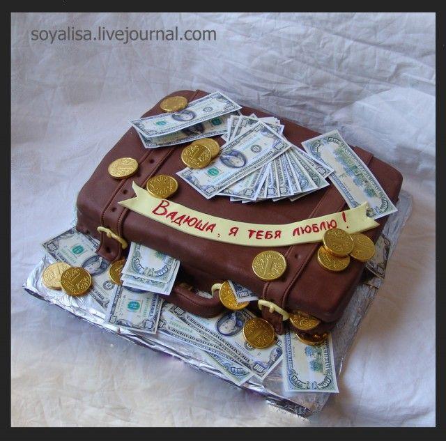 торт кейс с деньгами открытый