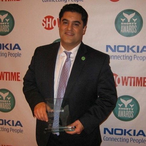 TYT#TBT here's Cenk receiving his @shortyawards back in 2010 for best News Twitter Account.