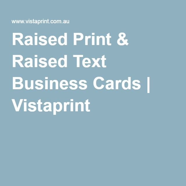 Raised print business cards business cards pinterest free raised print raised text business cards vistaprint colourmoves