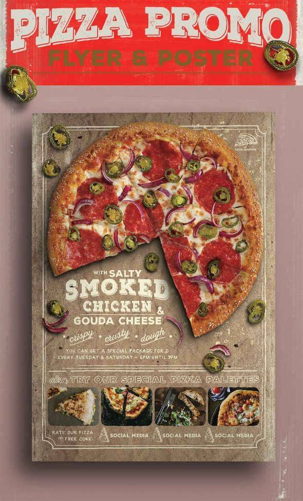 Pizza Promo Flyer on Behance EDITORIAL DESIGN LOVE Pinterest - sample pizza menu template