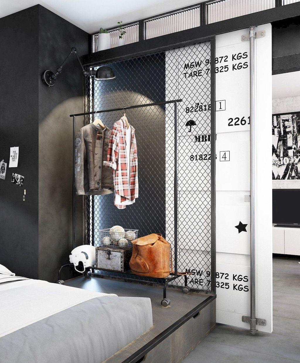 Urban loft bedroom   Tiny Apartment with Loft Space Ideas  High top tables Loft