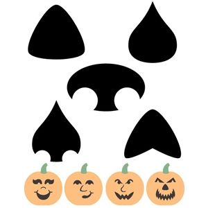 pumpkin nose template  Silhouette Design Store: build a jack-o-lantern: noses ...