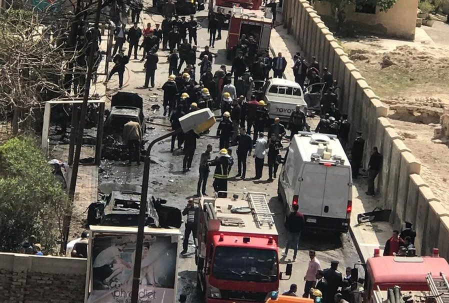 Car Exploded In The Center Of Alexandria Egypt