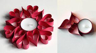 paper candle centerpiece