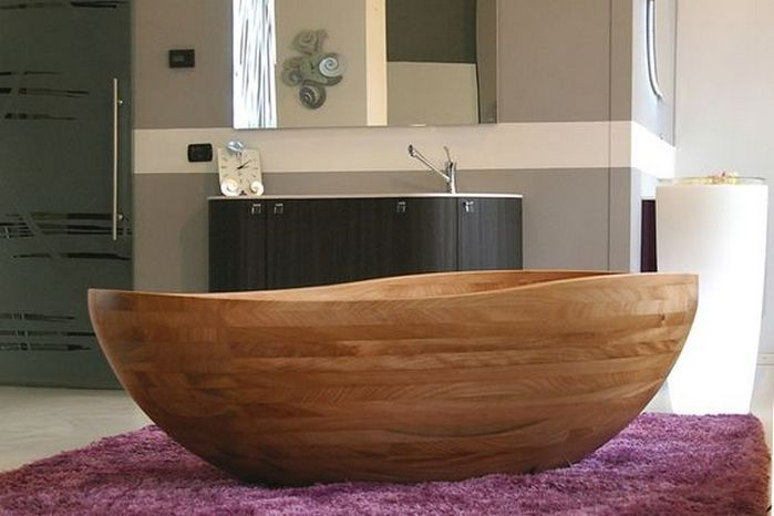 Beautiful Bathroom With Wooden Baths | Bath, Bathroom inspiration ...