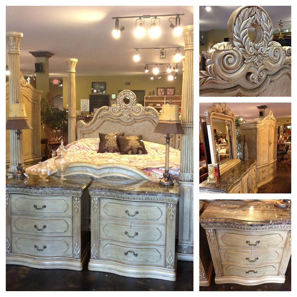 Collezione Europa Antoionette Provincial 5pc King Bedroom Suite
