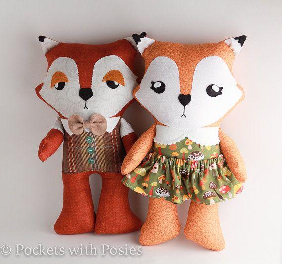 The Fantastic Mr Fox Plush Stuffed Toy By Pocketswithposies Fox Plush Fantastic Mr Fox Toys