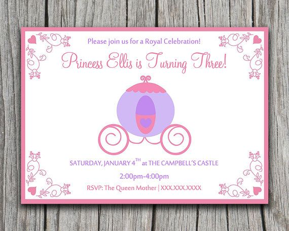 INSTANT DOWNLOAD Royal Princess Party Invite Microsoft Word - Royal birthday invitation template