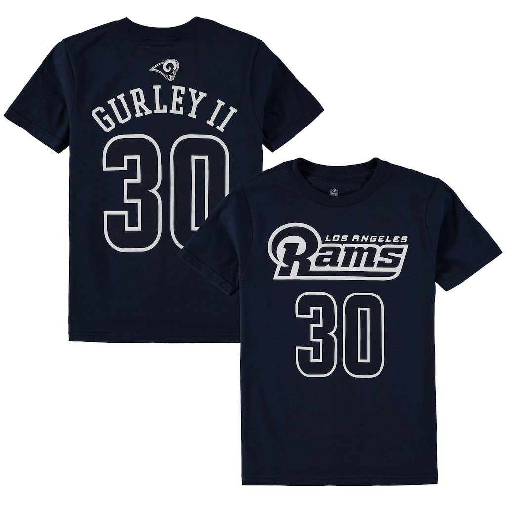 Youth Todd Gurley Ii Navy Los Angeles Rams Mainliner Name Number T Shirt Boy S Size Yth Small Lar Blue Todd Gurley Shirts Los Angeles