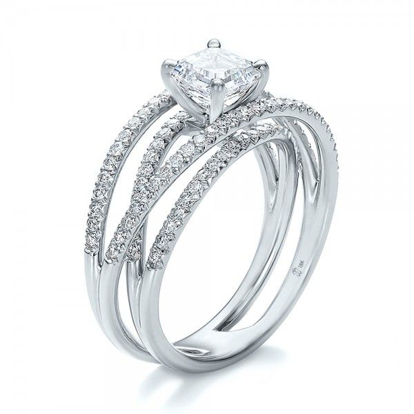 Wide Band Engagement Ring in Gold or Platinum Accessories