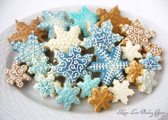 Snowflake Decorated Cookies Christmas Cookies Holiday Winter