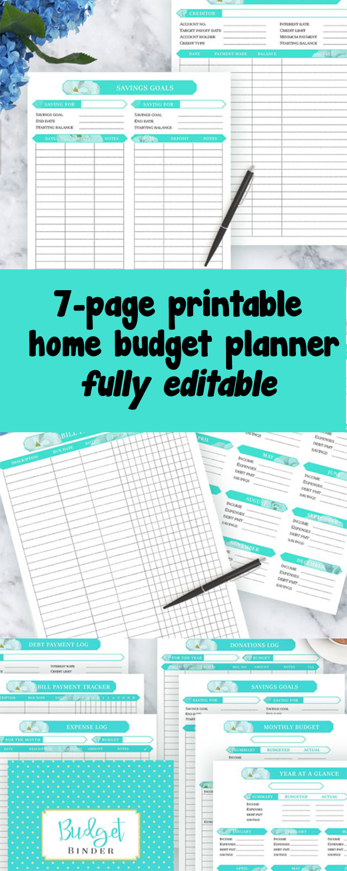 Monthly Calendar I Can Type On : Printable budget planner that you can type in i love this