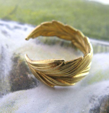 Laurel Wreath Ring - but w/ sea green, chalcedony stone