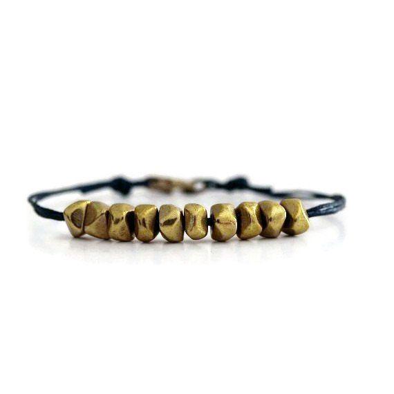Gold Brass Beads Bracelet