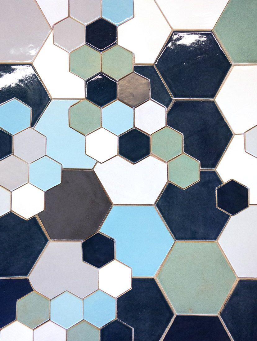 135 best HEXAGON TILE: MERCURY MOSAICS images on Pinterest