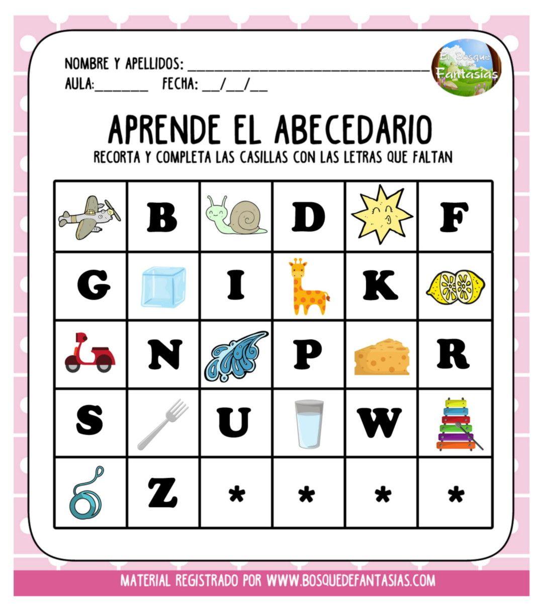 Fichas Recortables Para Aprender El Abecedario Para Infantil