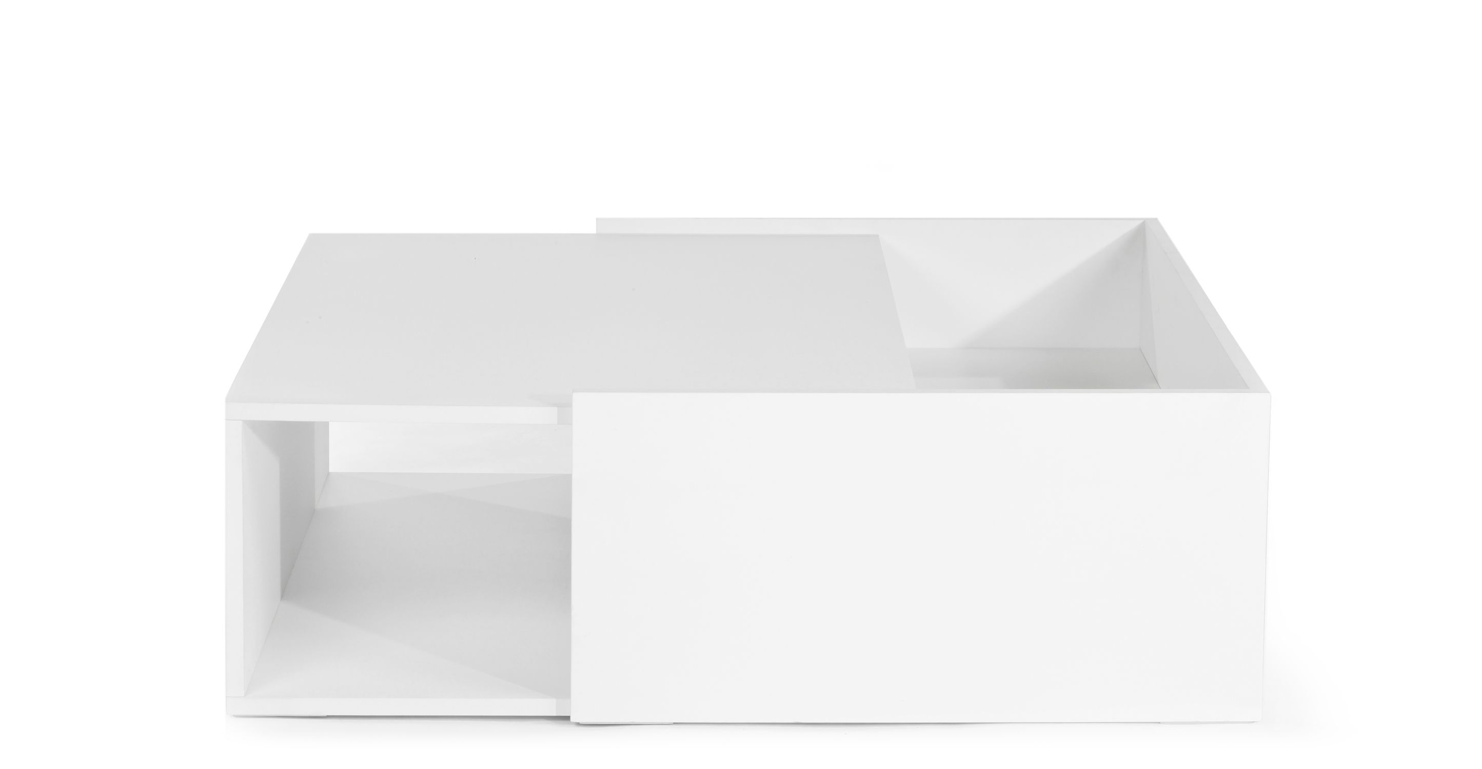 Axis Low Coffee Table in white lacquer