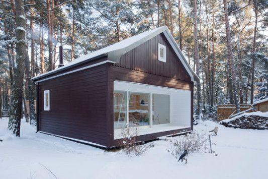 Wochenendhaus In Klein Koris Bad Und Sanitar Wohnen Wochenendhaus Haus Holzhaus Bauen