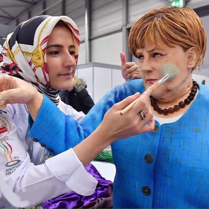 Tuba Geckil | German Chancellor Angela Merkel Cake | Tuba Geçkil