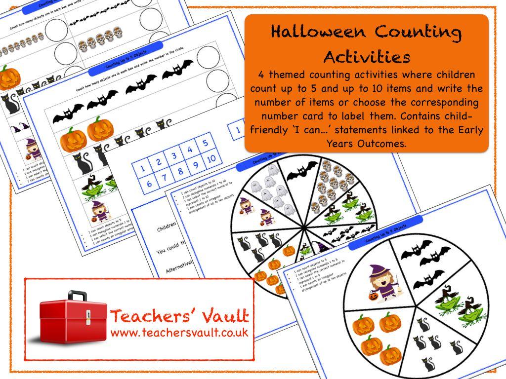 Halloween Counting Activities Counting activities