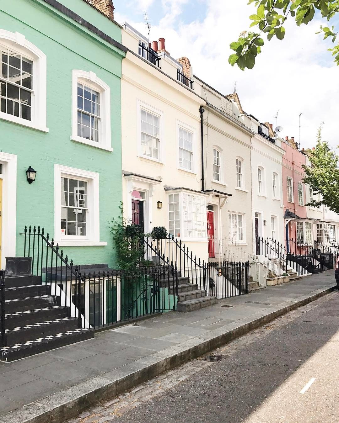 London Apartments Exterior: Pretty Pastel Houses Imagine Actually Living In One Of