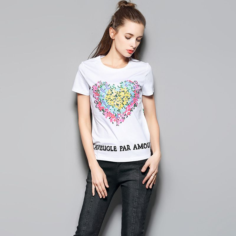 >> Click to Buy << Hot sale 2017 summer new fashion O-neck cotton T-shirt,Parrot Love Print Boutique Lady tops,Plus size women short sleeve tops #Affiliate