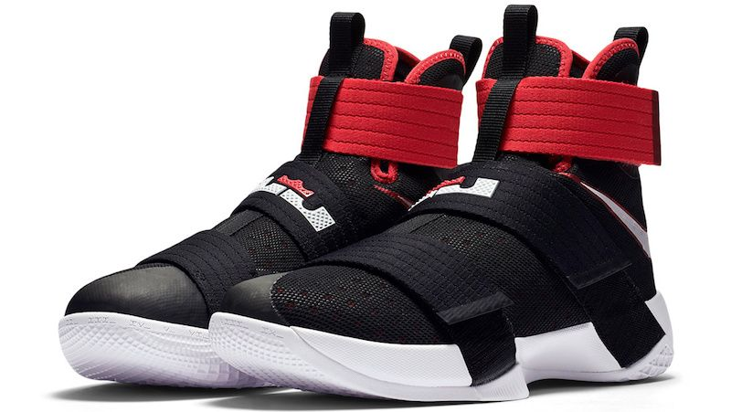 93a74f02b03 Official Images Of The Black   Red Nike LeBron Zoom Soldier 10 ...