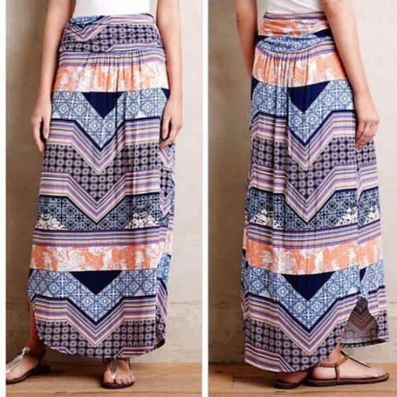 "Anthropologie Couloir Maxi Skirt NWT. Smoke free home. 40""L. BEAUTIFUL soft skirt Anthropologie Skirts Maxi"