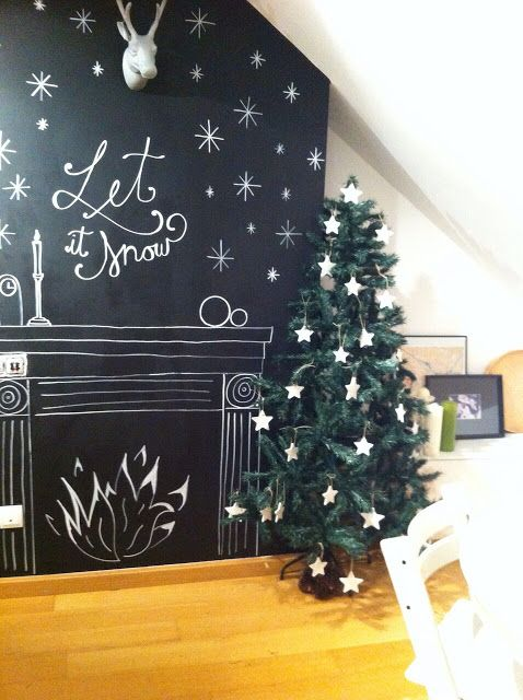 MARVAETA: La Navidad llega a la pared de pizarra