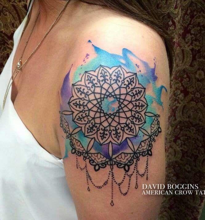 Watercolor Mandala Tattoo Watercolor Mandala Mandala Tattoo