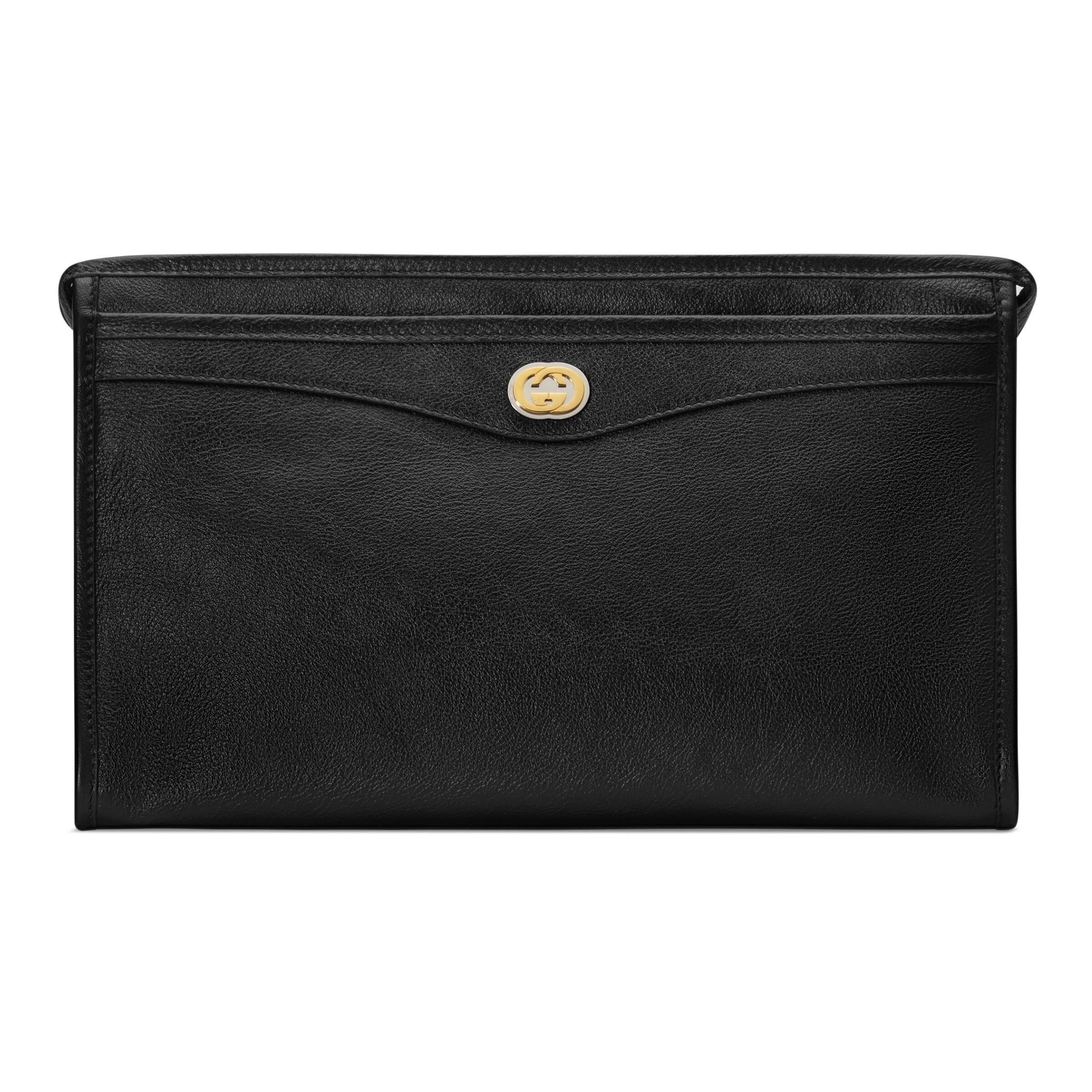 c35733ba3cb7 GUCCI POUCH WITH INTERLOCKING G. #gucci | Gucci in 2019 | Gucci ...