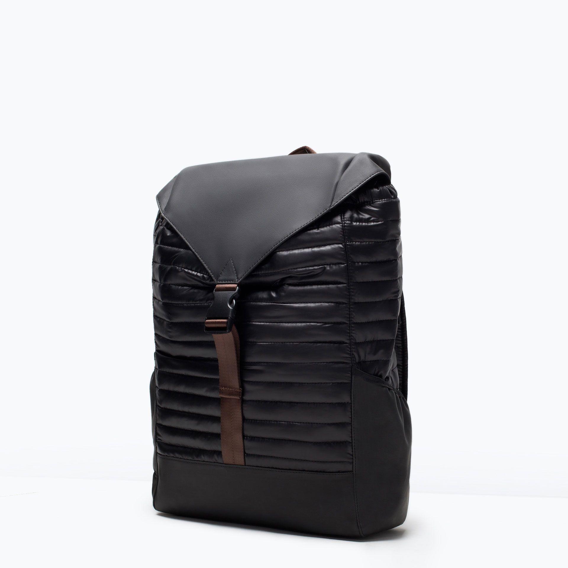 Zara - Quilted Rucksack   Men's Bags   Pinterest   Bag and Backpacks : black quilted rucksack - Adamdwight.com