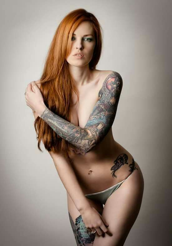 redheads with tattoos