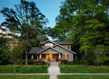 Gut Plaza Midwood Craftsman   2nd Story Addition   Traditional   Exterior    Charlotte   Studio H. Kleines Haus DesignIntelligent DesignDesign ...
