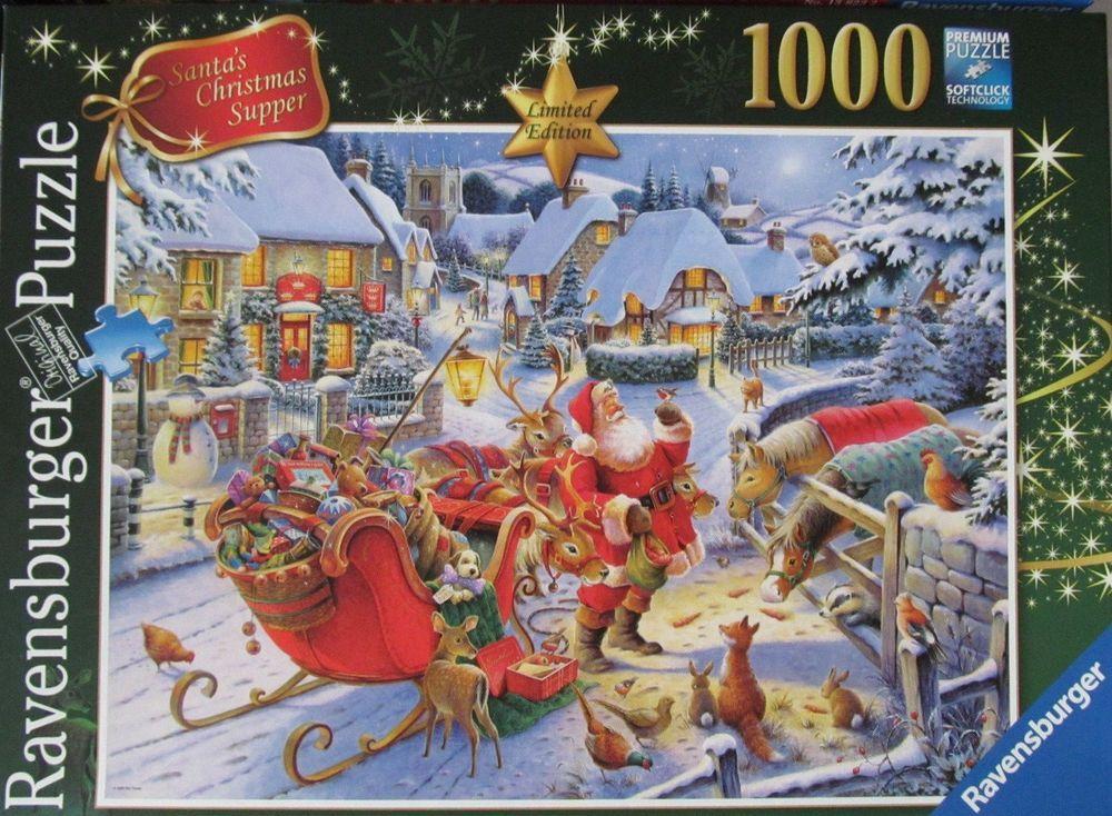 RAVENSBURGER - 1000 PIECE JIGSAW - SANTAS CHRISTMAS SUPPER Enjoy