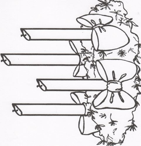 Advent Wreath for children to print and color. | Holidays ...
