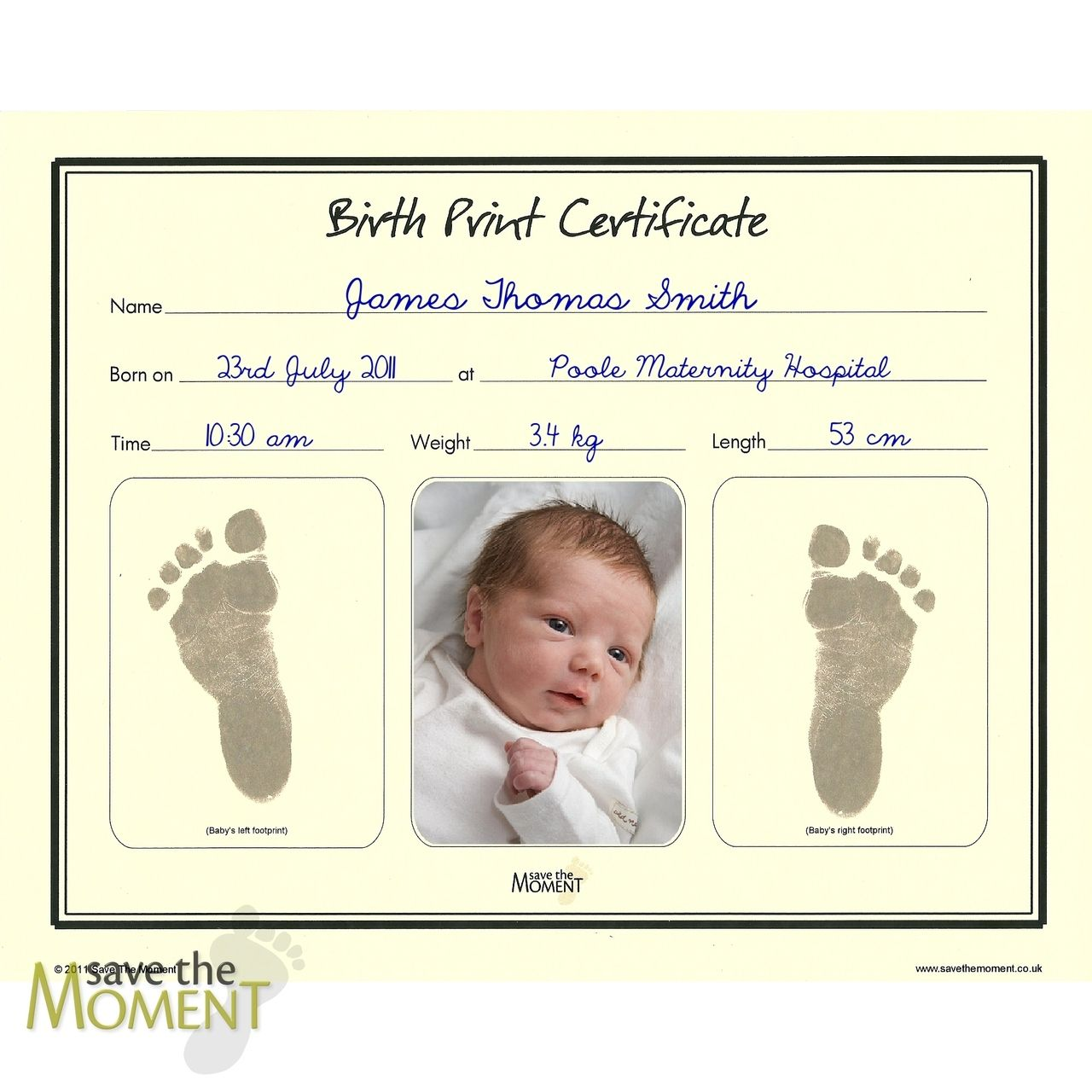 Pin On 1 Birth certificate template with footprints