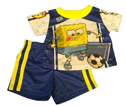 b3e677295 Nickelodeon Baby Boys Spongebob 2 Piece Short Sleeve Pajama Set ...