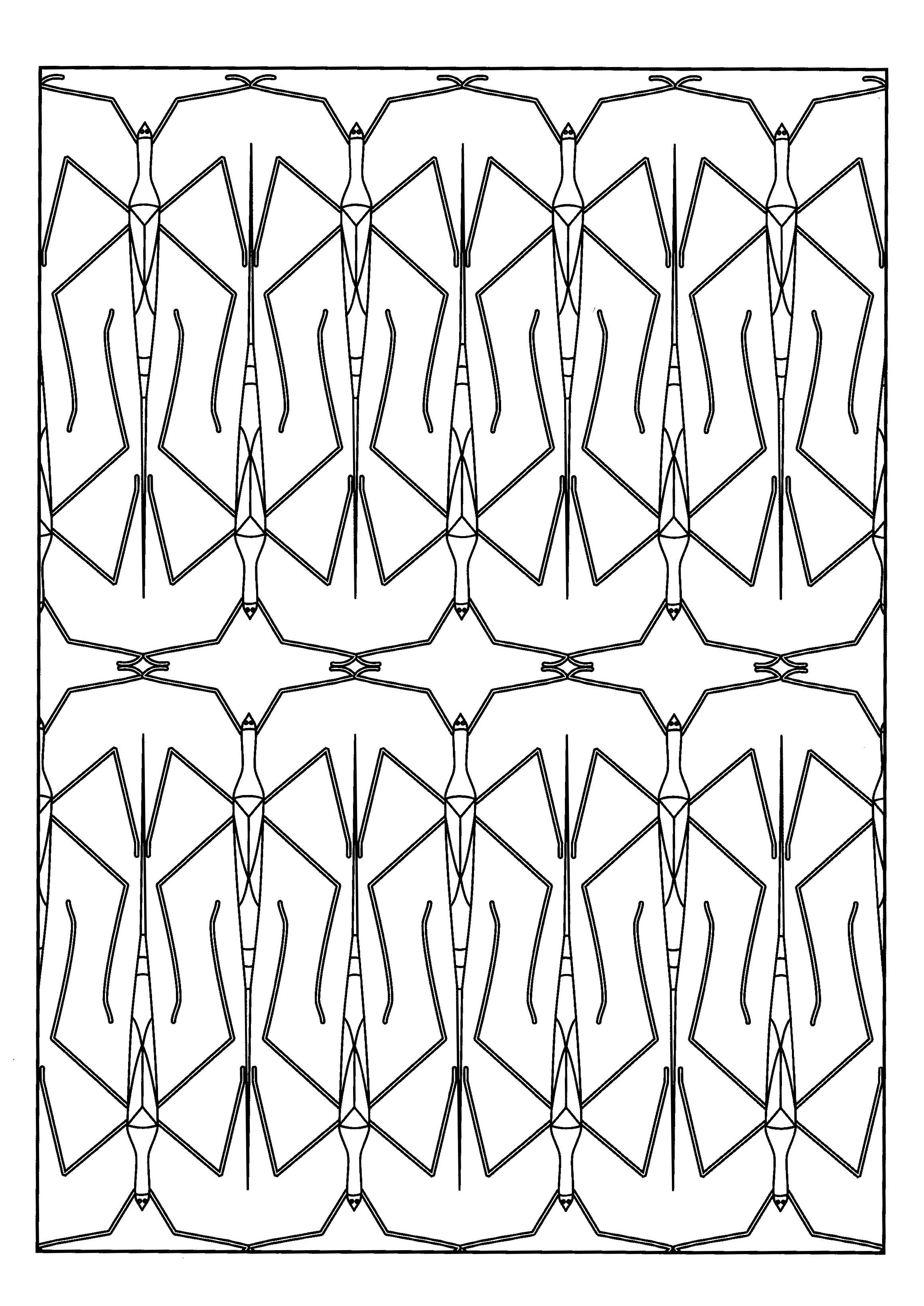 Here Are Complex Coloring Pages For Adults Of Insects Different Styles Are Available Different L Insect Coloring Pages Animal Coloring Pages Coloring Pages